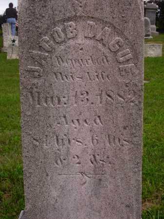DAGUE, JACOB - CLOSE VIEW - Wayne County, Ohio | JACOB - CLOSE VIEW DAGUE - Ohio Gravestone Photos
