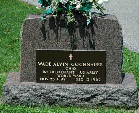 GOCHNAUER, WADE ALVIN - Wayne County, Ohio   WADE ALVIN GOCHNAUER - Ohio Gravestone Photos
