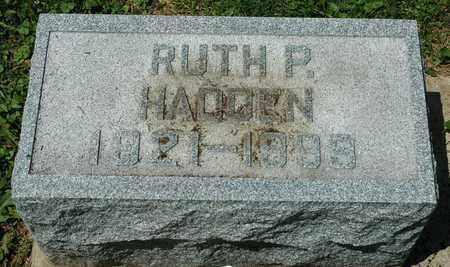 HADDEN, RUTH P. - Wayne County, Ohio   RUTH P. HADDEN - Ohio Gravestone Photos