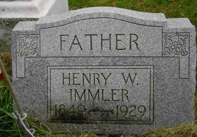 IMMLER, HENRY W. - Wayne County, Ohio | HENRY W. IMMLER - Ohio Gravestone Photos