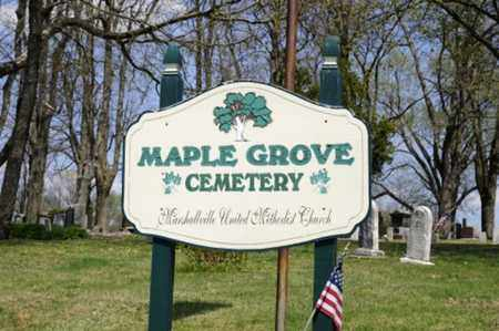 MAPLE GROVE, CEMETERY SIGN - Wayne County, Ohio | CEMETERY SIGN MAPLE GROVE - Ohio Gravestone Photos