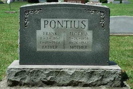 PONTIUS, FLORA A. - Wayne County, Ohio | FLORA A. PONTIUS - Ohio Gravestone Photos
