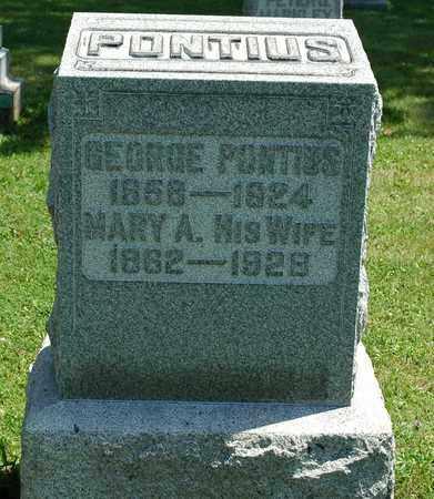 MARKLEY PONTIUS, MARY A. - Wayne County, Ohio | MARY A. MARKLEY PONTIUS - Ohio Gravestone Photos