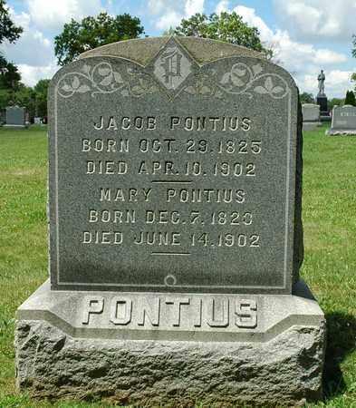 PONTIUS, MARY - Wayne County, Ohio | MARY PONTIUS - Ohio Gravestone Photos