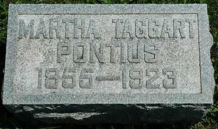 TAGGART PONTIUS, MARTHA - Wayne County, Ohio | MARTHA TAGGART PONTIUS - Ohio Gravestone Photos