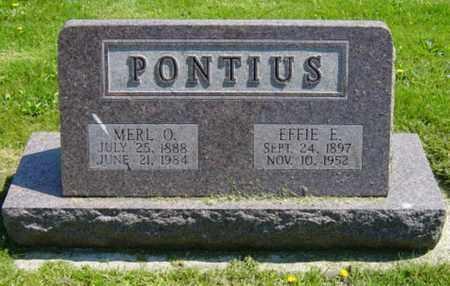 PONTIUS, MERL O. - Wayne County, Ohio   MERL O. PONTIUS - Ohio Gravestone Photos