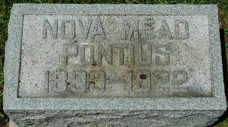 MEAD PONTIUS, NOVA - Wayne County, Ohio | NOVA MEAD PONTIUS - Ohio Gravestone Photos
