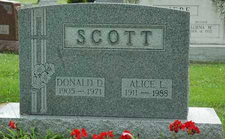 SCOTT, DONALD D. - Wayne County, Ohio | DONALD D. SCOTT - Ohio Gravestone Photos