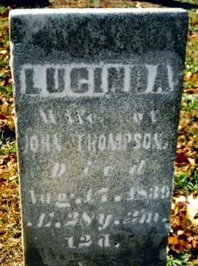 THOMPSON, LUCINDA - Wayne County, Ohio | LUCINDA THOMPSON - Ohio Gravestone Photos