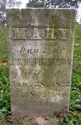 THOMPSON, MARY - Wayne County, Ohio | MARY THOMPSON - Ohio Gravestone Photos