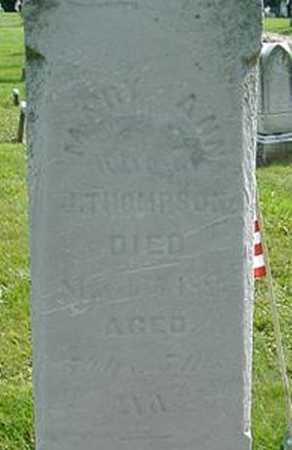 BULGER THOMPSON, MARY ANN - Wayne County, Ohio | MARY ANN BULGER THOMPSON - Ohio Gravestone Photos