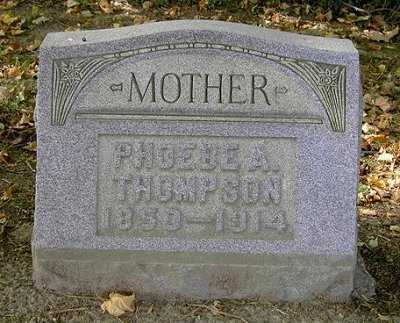 THOMPSON, PHOEBE A. - Wayne County, Ohio | PHOEBE A. THOMPSON - Ohio Gravestone Photos