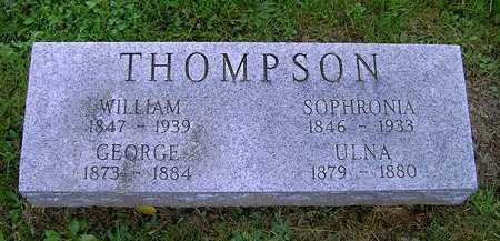 THOMPSON, SOPHRONIA - Wayne County, Ohio | SOPHRONIA THOMPSON - Ohio Gravestone Photos