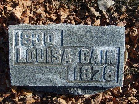 CAIN, LOUISA - Wyandot County, Ohio | LOUISA CAIN - Ohio Gravestone Photos