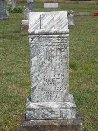 ALBERTY, ELIZABETH - Adair County, Oklahoma | ELIZABETH ALBERTY - Oklahoma Gravestone Photos