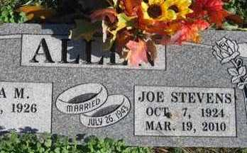 ALLEN, JOE STEVENS - Adair County, Oklahoma   JOE STEVENS ALLEN - Oklahoma Gravestone Photos