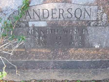 ANDERSON, KENNETH WESLEY - Adair County, Oklahoma | KENNETH WESLEY ANDERSON - Oklahoma Gravestone Photos