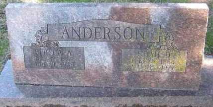 DANIELS ANDERSON, BERTHA ANNIE - Adair County, Oklahoma | BERTHA ANNIE DANIELS ANDERSON - Oklahoma Gravestone Photos