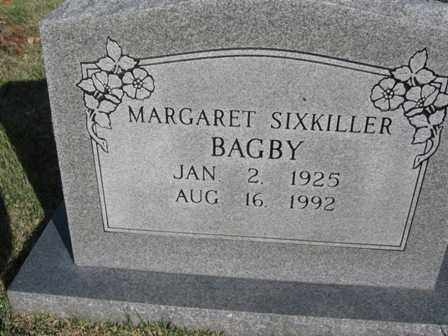 SIXKILLER BAGBY, MARGARET - Adair County, Oklahoma | MARGARET SIXKILLER BAGBY - Oklahoma Gravestone Photos