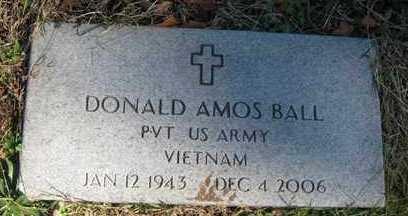 BALL, DONALD AMOS - Adair County, Oklahoma | DONALD AMOS BALL - Oklahoma Gravestone Photos