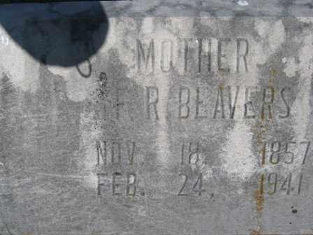 HUMPHRIES BEAVERS, FRANCES ROSETTA - Adair County, Oklahoma | FRANCES ROSETTA HUMPHRIES BEAVERS - Oklahoma Gravestone Photos