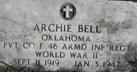 BELL, ARCHIE - Adair County, Oklahoma | ARCHIE BELL - Oklahoma Gravestone Photos