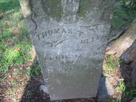 BELL, THOMAS TAYLOR - Adair County, Oklahoma | THOMAS TAYLOR BELL - Oklahoma Gravestone Photos