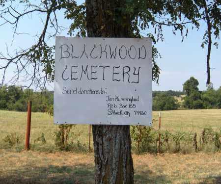 SIGN, *BLACKWOOD CEMETERY - Adair County, Oklahoma | *BLACKWOOD CEMETERY SIGN - Oklahoma Gravestone Photos