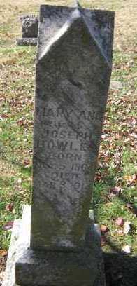 WILLIS BOWLES, MARY ANN - Adair County, Oklahoma | MARY ANN WILLIS BOWLES - Oklahoma Gravestone Photos
