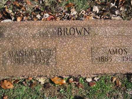 BROWN, AMOS - Adair County, Oklahoma | AMOS BROWN - Oklahoma Gravestone Photos
