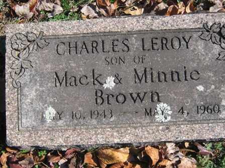 BROWN, CHARLES LEROY - Adair County, Oklahoma   CHARLES LEROY BROWN - Oklahoma Gravestone Photos