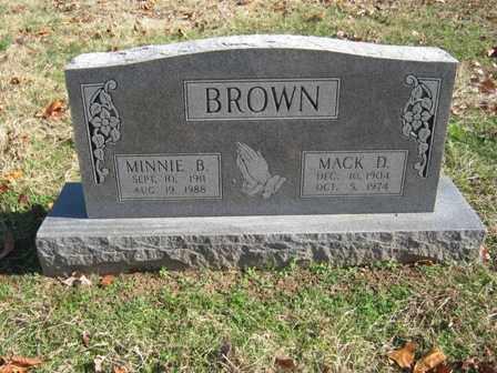 BROWN, MINNIE B. - Adair County, Oklahoma | MINNIE B. BROWN - Oklahoma Gravestone Photos