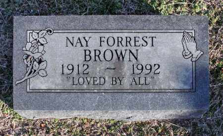 BROWN, NAY FORREST - Adair County, Oklahoma | NAY FORREST BROWN - Oklahoma Gravestone Photos
