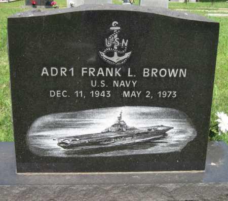 BROWN (VETERAN 3 WARS), FRANK L - Adair County, Oklahoma | FRANK L BROWN (VETERAN 3 WARS) - Oklahoma Gravestone Photos