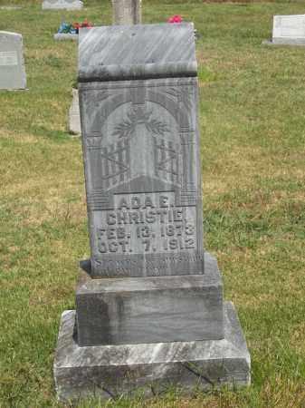 CHRISTIE, ADA E - Adair County, Oklahoma | ADA E CHRISTIE - Oklahoma Gravestone Photos