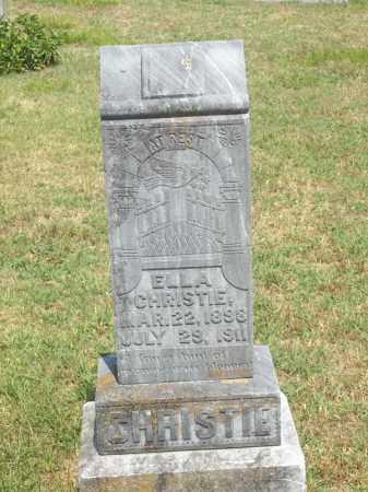 CHRISTIE, ELLA - Adair County, Oklahoma | ELLA CHRISTIE - Oklahoma Gravestone Photos