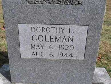 COLEMAN, DOROTHY L. - Adair County, Oklahoma   DOROTHY L. COLEMAN - Oklahoma Gravestone Photos