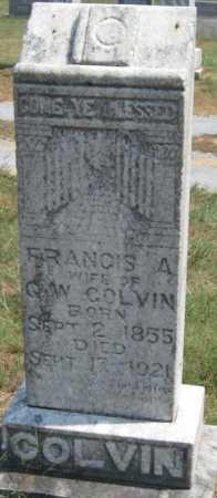 COLVIN, FRANCIS A - Adair County, Oklahoma | FRANCIS A COLVIN - Oklahoma Gravestone Photos