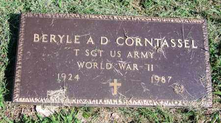 CORNTASSEL, BERYLE A D - Adair County, Oklahoma | BERYLE A D CORNTASSEL - Oklahoma Gravestone Photos