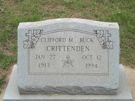 "CRITTENDEN, CLIFFORD M ""BUCK"" - Adair County, Oklahoma   CLIFFORD M ""BUCK"" CRITTENDEN - Oklahoma Gravestone Photos"