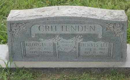 CRITTENDEN, GEORGIA P - Adair County, Oklahoma | GEORGIA P CRITTENDEN - Oklahoma Gravestone Photos