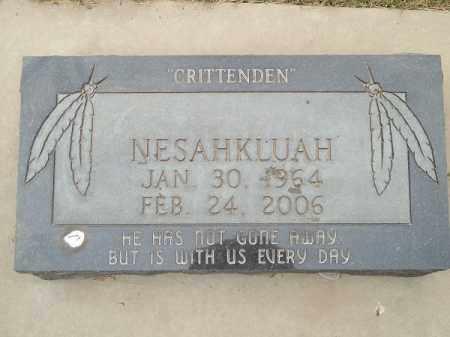CRITTENDEN, NESAHKLUAH - Adair County, Oklahoma | NESAHKLUAH CRITTENDEN - Oklahoma Gravestone Photos