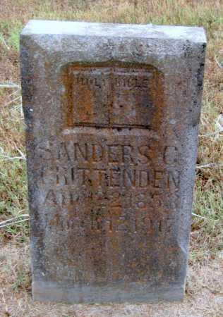 CRITTENDEN, SANDERS - Adair County, Oklahoma | SANDERS CRITTENDEN - Oklahoma Gravestone Photos