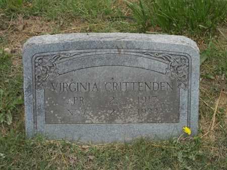 CRITTENDEN, VIRGINIA - Adair County, Oklahoma   VIRGINIA CRITTENDEN - Oklahoma Gravestone Photos