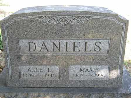 DANIELS, MARIE - Adair County, Oklahoma | MARIE DANIELS - Oklahoma Gravestone Photos