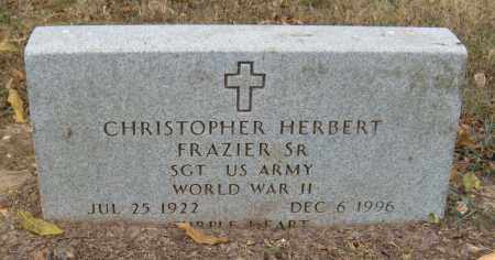 FRAZIER SR (WORLD WAR II), CHRISTOPHER HERBERT - Adair County, Oklahoma | CHRISTOPHER HERBERT FRAZIER SR (WORLD WAR II) - Oklahoma Gravestone Photos