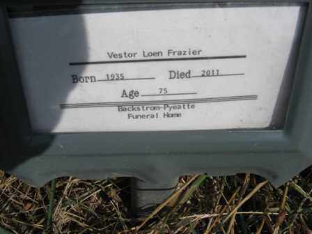 FRAZIER, VESTOR LOEN - Adair County, Oklahoma   VESTOR LOEN FRAZIER - Oklahoma Gravestone Photos