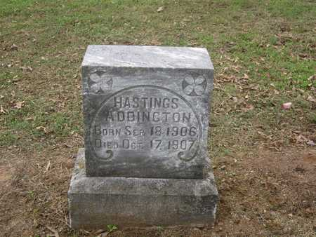 HASTINGS, ADDINGTON - Adair County, Oklahoma   ADDINGTON HASTINGS - Oklahoma Gravestone Photos