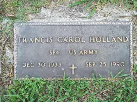 HOLLAND (VETERAN), FRANCIS CAROL - Adair County, Oklahoma | FRANCIS CAROL HOLLAND (VETERAN) - Oklahoma Gravestone Photos