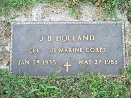 HOLLAND (VETERAN), J B - Adair County, Oklahoma | J B HOLLAND (VETERAN) - Oklahoma Gravestone Photos